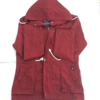 MMCOLLECTIVE Maroon Parka Jacket Brand New