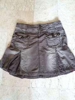 Edc Brown mini skirt