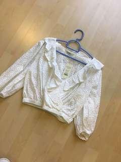 New ! Miss selfridge crop top lace
