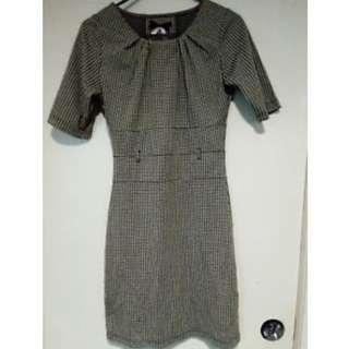 Atmosphere Houndstooth Bodycon Dress Size 8