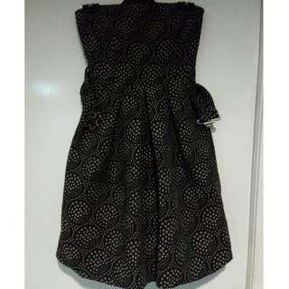 Zara Strapless Belted Bubble Dress Size Small