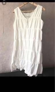 🈹New Initial style Korea white bubble vest dress 全新韓國泡泡白色連身裙 one piece op