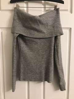Aritzia Wilfred Off Shoulder Knit Top