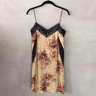 Zara (Trafaluc) Yellow Floral Lace Dress