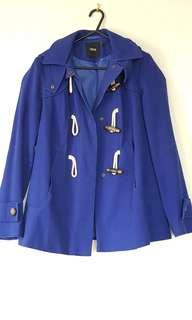 Cobalt Blue Cape Coat with Hood