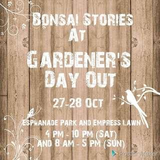 Bonsai stories flea market at Gardeners' Day Out