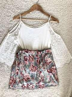 SALE!!!! REPRICED!!!! American Eagle Floral Skirt