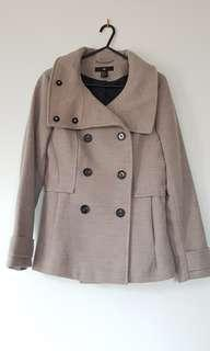 Taupe Double Breasted Coat