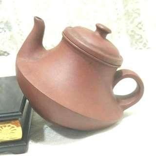 大舅公留下來的壺蓋雙印底款苗玉娟把手苗落款茶壺泡茶紫砂壺