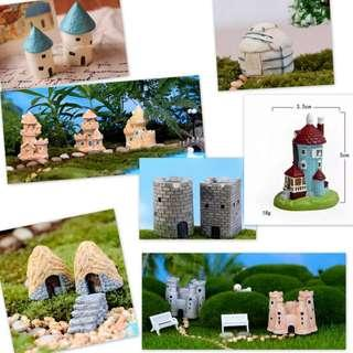 Miniature House: Castel /Sands Castle/ Cave/Light House/ Mongolian Yurt