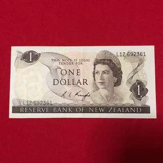 New Zealand $1 Note