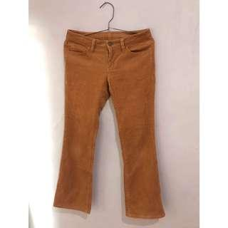 CORDUROY PANTS BROWN VINTAGE THRIFT