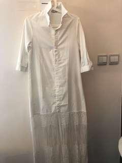 白色恤衫連身裙