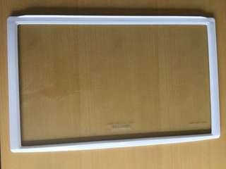 Tempered glass fridge shelf