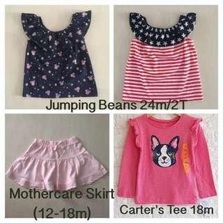 Any 2 for $12.90! BN Baby Girls Clothes (18-24m)