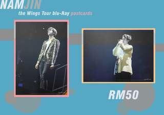 NAMJIN BTS WINGS TOUR BLU-RAY POSTCARDS