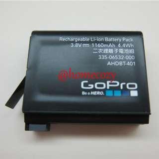(BN) Original GoPro Hero 4 Rechargeable Battery - AHDBT-401 (Brand New)