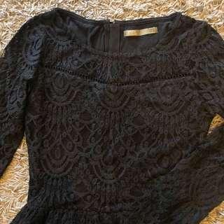 SFERA black lace dress