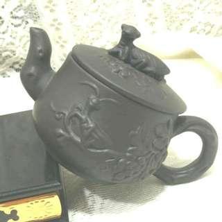 有嗑傷大舅公留下來的螳螂底款中國宜興茶壺泡茶紫砂壺出水口232