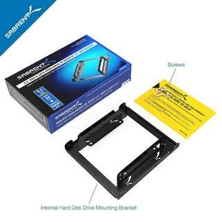 (BNIB) SABRENT 2.5 Inch to 3.5 Inch Internal Hard Disk Drive Mounting Kit (BK-HDDH) (Brand New Boxed)