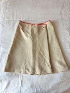 Woven linen miniskirt