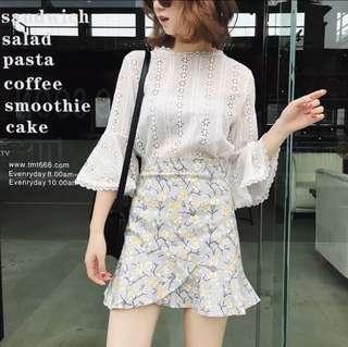 🆓📮Floral Asymmetrical Skirt