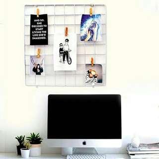 Wall Grid + Polaroid