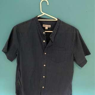 Country Road Navy Short Sleeve Shirt (SMALL)