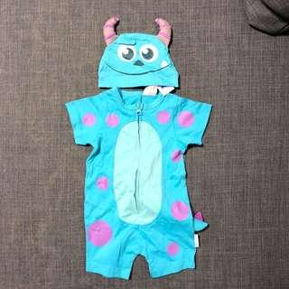 (包郵)全新迪士尼毛毛Sulley costume