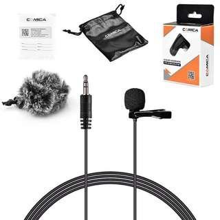 Comica CVM-V01GP Lavalier Lapel Microphone Clip-on Omni-directional Condenser Mic for GoPro