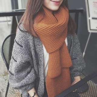 BN Knitted Brown scarf