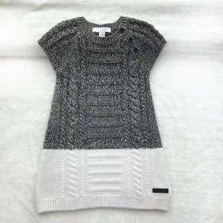 🚚 BURBERRY 女童短袖針織連身裙 🎈18m/80cm 🎈九成新,正面有污