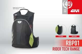 givi riding backpack rider tech 15 litres