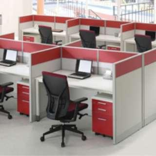 office partition or call center divider