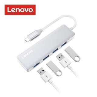 (BNIB) LENOVO Type C to USB 3.0 4-Port Ultra Slim Compact Aluminum Hub - Space Grey (Brand New Boxed)