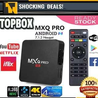 MXQ PRO Smart TV BOX 4K UltraHD TV BOX Android 7.1 +3000 Free Channel