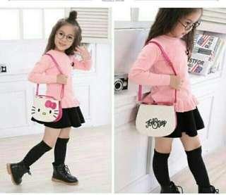 (Ready Stock) Hello kitty white handbag for girl