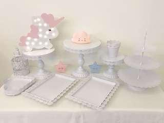 Cake stand, dessert tray for rent