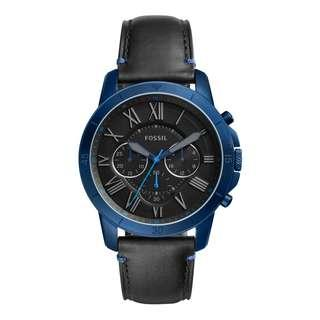 Fossil FS5342 Men's Grant Chronograph Black Leather Watch
