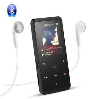 (BNIB) AGPTEK A07T Bluetooth 8GB Metal Body MP3 Player with FM Radio & Touch Buttons - Black (Brand New Boxed)