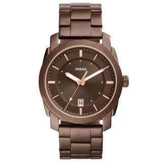 Fossil FS5370 Men Machine Brown Stainless Steel Watch