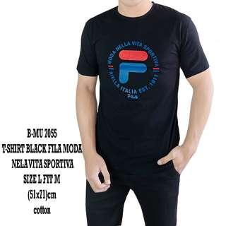 bajukecee - Tshirt Black Fila Moda Nella Vita Sportiva