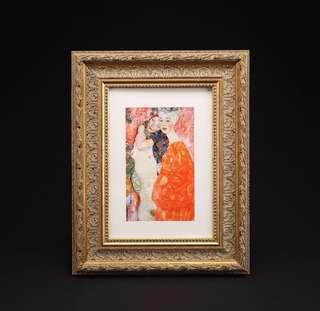 Gustav Klimt Die Freundinnen (Girl Friends) 1916 artist high quality multi layers art print framed home decor deco 克林姆 多層 絲印 藝術 掛畫