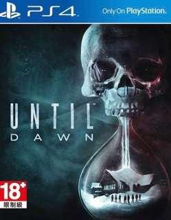全新 PS4 Until Dawn 中英文版