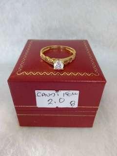 18k Saudi Gold Ring Size 8