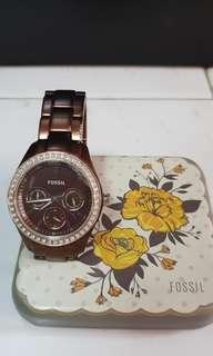Fossil watch bronze stainless steel