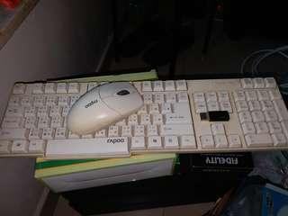 Wireless keyboard and mouse無線鍵盤