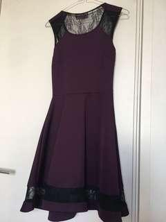 Purple dress for spring