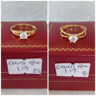 18k Saudi Gold Ring Size 8.5 & 8