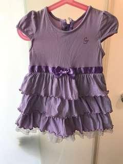 🚚 麗嬰房粉嫩紫蛋糕裙(穿起來很可愛喔)
